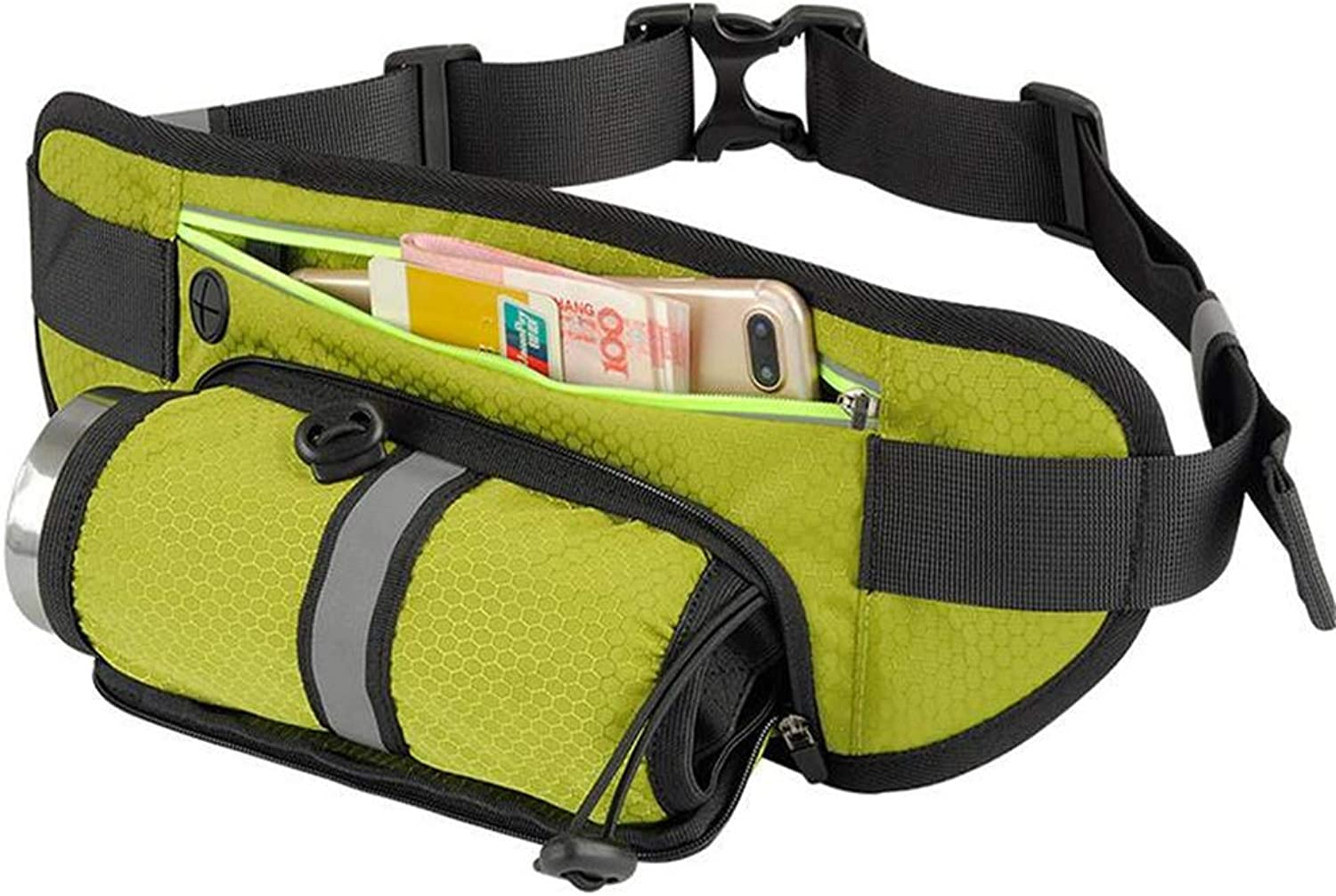 Hiking Pockets Running Belt SweatProof Sports Bag MultiFunctional Fitness Moisturizing Belt Comfortable and Flexible for All Sports Types Suitable for Men and Women,Yellow