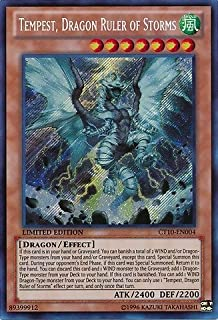 Yu-Gi-Oh! - Tempest, Dragon Ruler of Storms (CT10-EN004) - 2013 Collectors Tins - Limited Edition - Secret Rare by Yu-Gi-Oh!