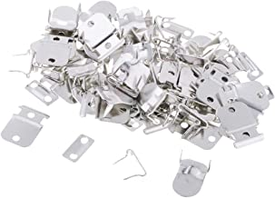dailymall 20 Sets Metal No-Sew Hooks & Eyes Closures for Trousers Skirt Sewing Buckle - Silver