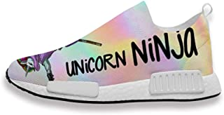 Mens Womans Trainers Caticorn Kawaii Cat Unicorn Printing Athletic Running Shoes Mesh Breathable for Gym Sport Walking Jog...