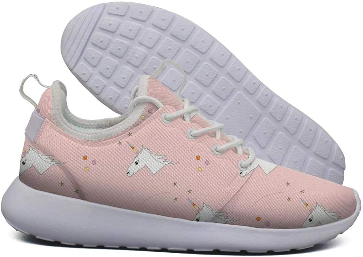 Funny Unicorns White Girls Sneakers for Women Spring Quick-Drying Walking shoes