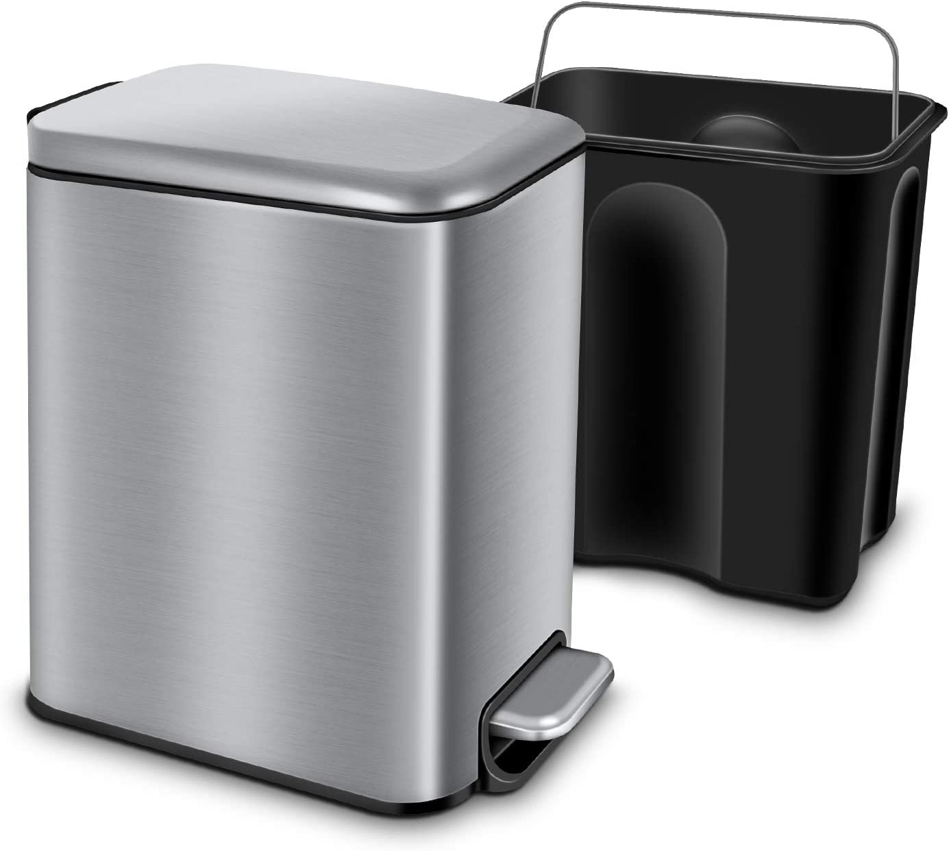 Magdisc Bathroom Trash Can with Lid Wholesale Close Soft Rectangular Directly managed store Smal