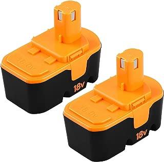 Forrat 3.0Ah for Ryobi 18v Battery NI-MH ONE Plus P100 P101 ABP1801 ABP1803 BPP1820 130224054 130224028 for Ryobi 18Volt Cordless Power Tools Batteries (2-Packs)