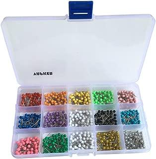 VAPKER 750 PCS Round Assorted 14 Colors Map Tacks 1/8 Inch Map Push Pins