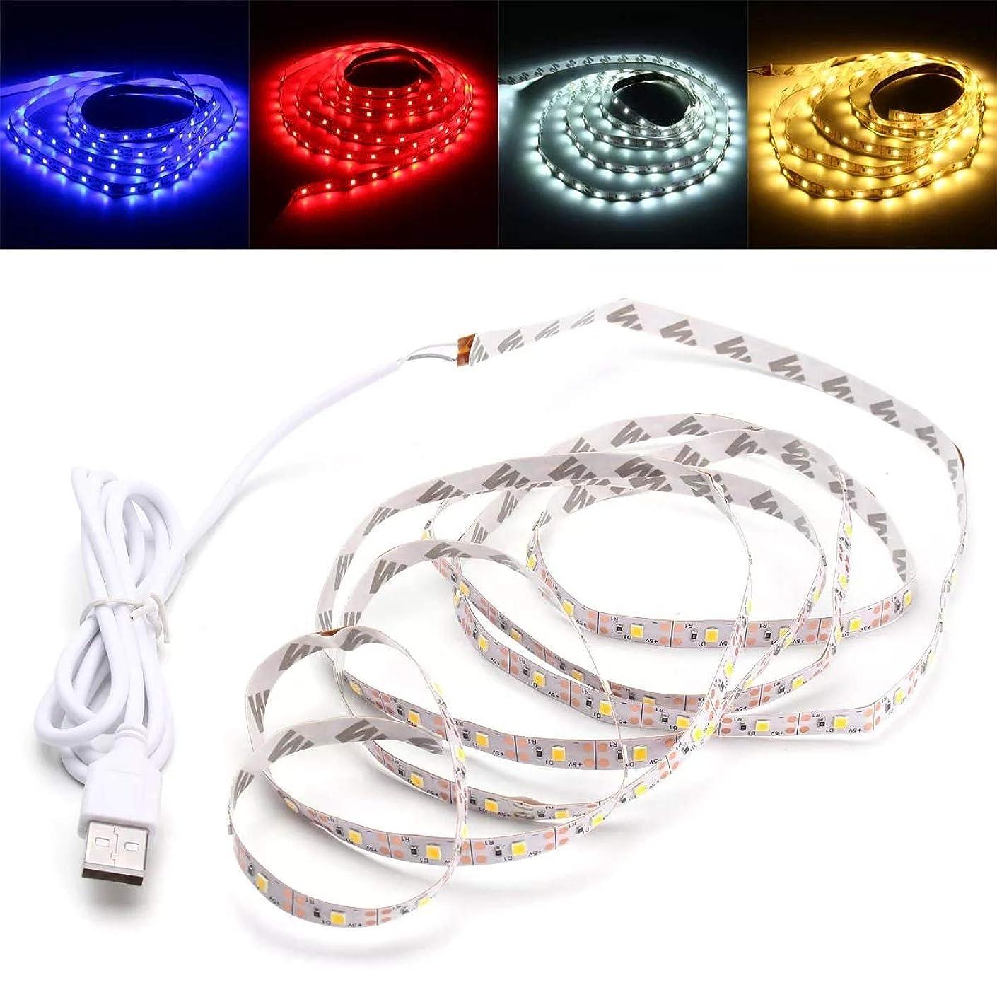 びんミニチュア鈍いLEDリボン USBはデコレーション2M SMD2835 DC 5Vの場合はストリップライトテレビPCの背景のバックライトをLED (色 : Blue)