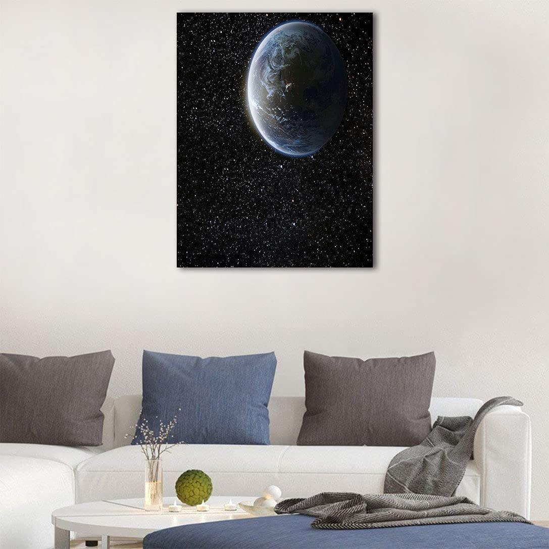 Galaxy Home Decoration Mesa Mall Scenic View of Dar Sales Moon Planet from Earth