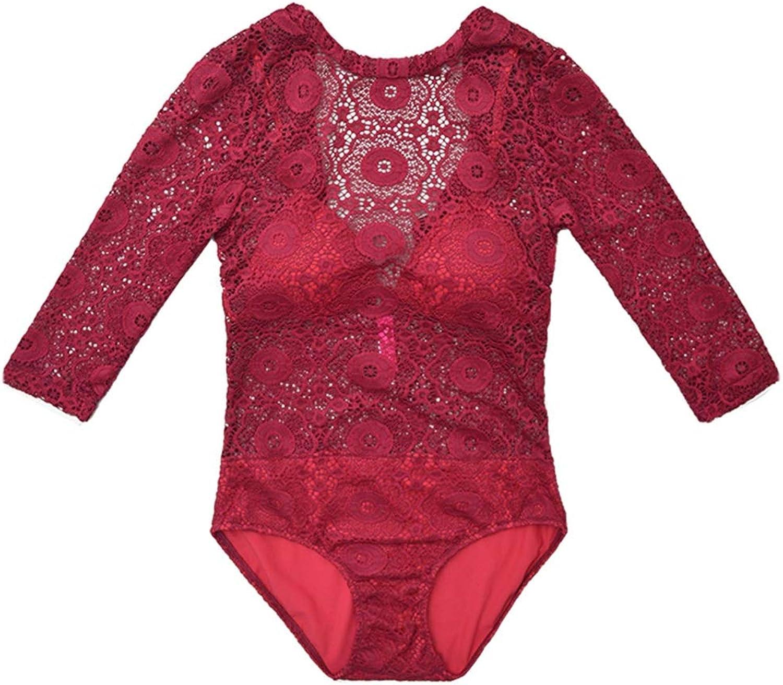 FENGMING Einteiliger Badeanzug für Strand, Badebekleidung (Farbe   Rot, gre   S)