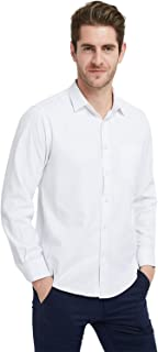 Men's Oxford Button Up Shirt Long Sleeve Non Iron