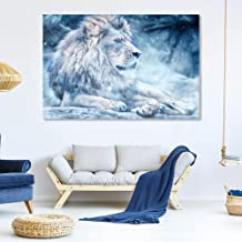SIGNFORD Canvas Wall Art for Living Room,Bedroom Home Artwork Paintings Snow Mountain Forest Lion Ready to Hang - 12x18 inches
