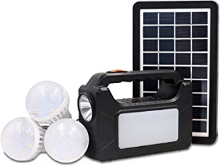 JOYWAY MOBILE LIGHT SYSTEM,SOLAR HOME SYSTEM,6V BATTERY, With 3 BULB AND ONE CHARGER WORK WITH FULL DAY(INCLUDE PANEL 9V 3W)