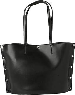كالفين كلاين جينز حقيبة يد كبيرة بحمالة للنساء , اسود