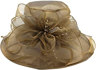 ACVIP Women's Organza Ruffled Bowknot Formal Occassion Derby Fascinator Kentucky Sun Hat