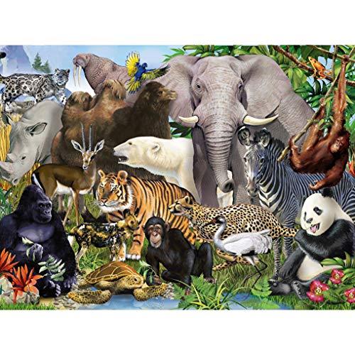 GuDoQi Puzzle da 1000 Pezzi Adulti Puzzle Mondo Animale per Bambini Adolescente