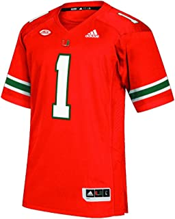 adidas Miami Hurricanes Premier Football Jersey with Acc Patch