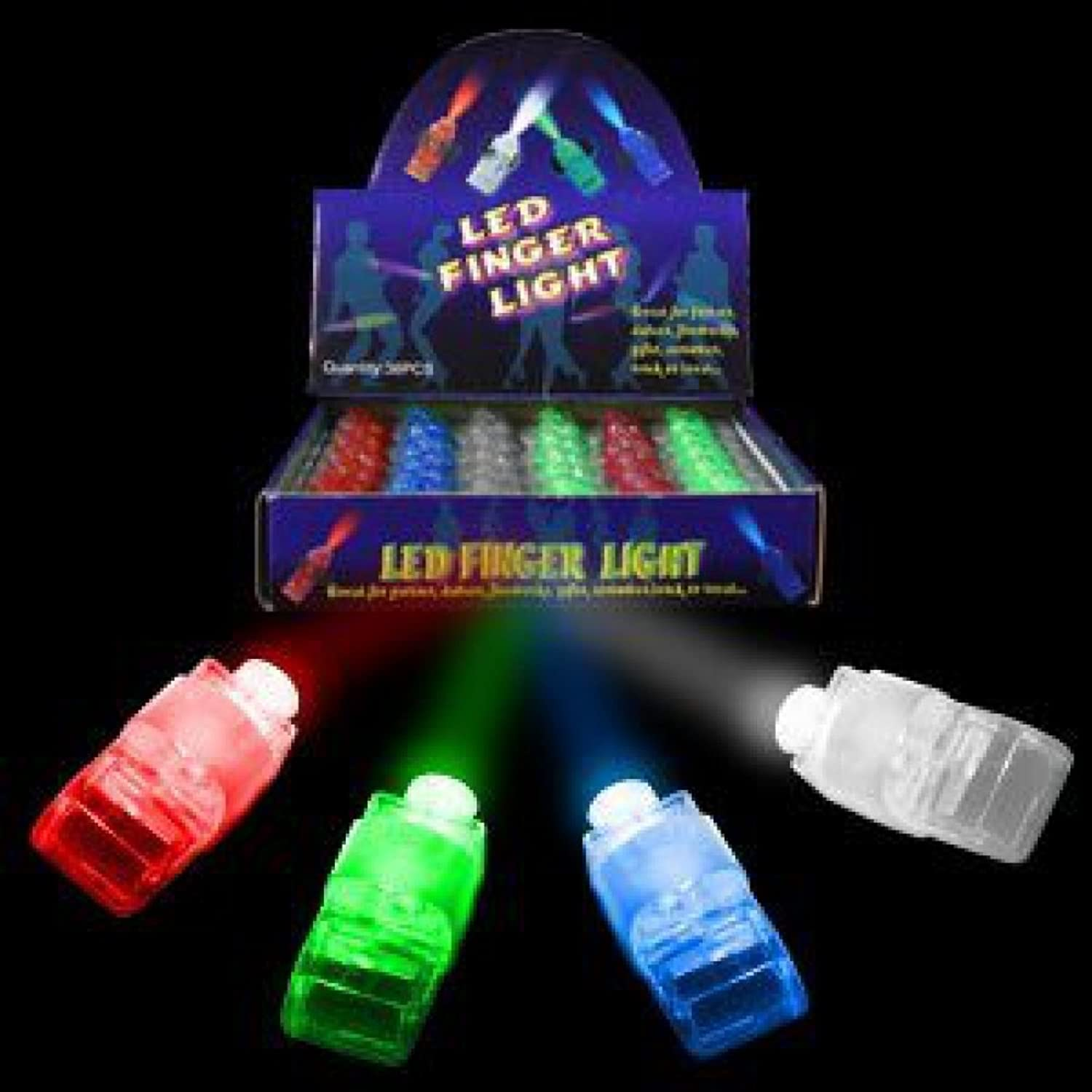 Fun Central AR803 LED Finger Lights - Assorted colors (40 Count)
