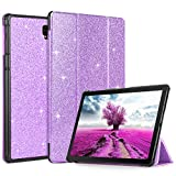 BENTOBEN Case for Samsung Galaxy Tab S4 10.5 2018 (SM-T830/T835) Glitter Bling Sparky Slim Auto Sleep/Wake Smart Tablet Cases Protective Shockproof Multiple Viewing Angles Stand Folio Cover, Purple