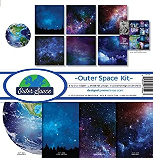 Reminisce Scrapbook Outer Space Collection Kit