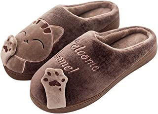 Mishansha Inverno Pantofole Uomo Donna Morbido Antiscivolo Scarpe da Casa Peluche Caldo Cotone Scarpe