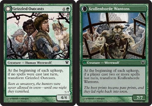 Magic: the Gathering - Grizzled Outcasts // Krallenhorde Wantons - Innistrad