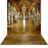 写真バックドロップwith床–シャンデリアHall–10x 20ft。–高品質シームレスなファブリック