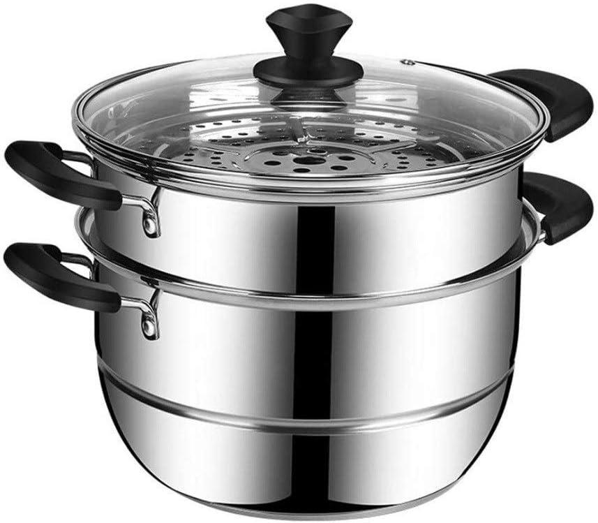 SHUNFENG-Ltd 2 Special Campaign Tier Steamer Pot Set Li New arrival + Steaming Cookware Glass