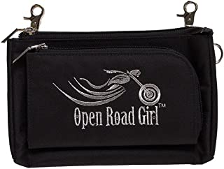 Open Road Girl Hip Purse with Clips, Womens Crossbody Bag Can be Worn 3 Ways