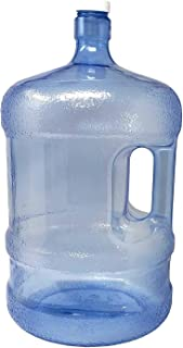 LavoHome BPA-Free Reusable 5 Gallon Plastic Water Bottle Jug Container with Cap & Easy Carry Handle