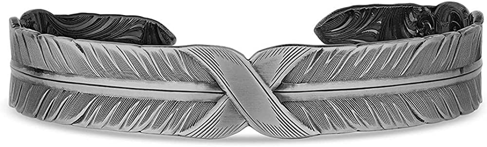 Montana Silversmiths Bound Ranking TOP18 Strength Feather Directly managed store Bracelet Cuff
