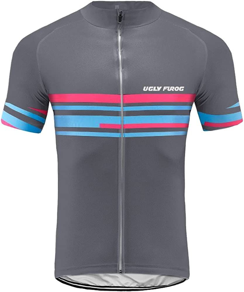 Uglyfrog Men's New Our shop OFFers the best service sales Full ZipperShort Sleeves M Bicycle Jersey Cycling