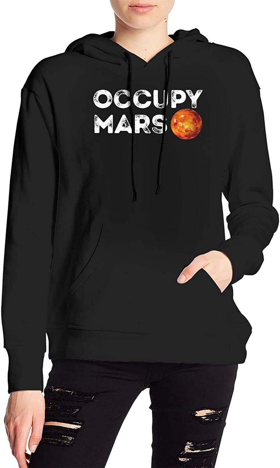 Occupy Mars Sweater Casual Hooded With Pocket For Men Women'S