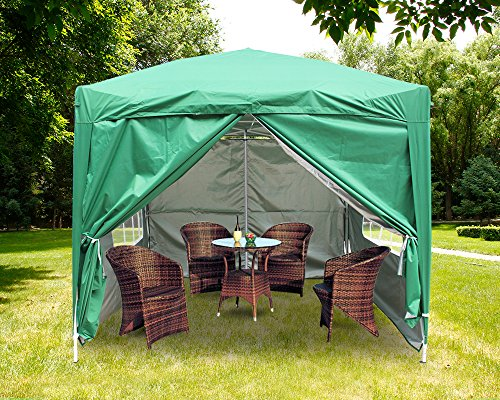 Greenbay Premium Green Pop-up Gazebo with Silver Protective Layer + 4 Leg Weight Bags + Carrying Bag 2x2M
