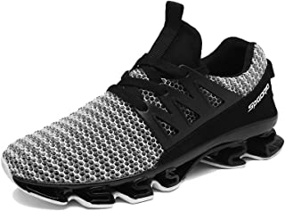 Mu Yangren Springblade Sport Running Shoes, Men's Blade Mesh Breathable Trail Runners Fashion Sneakers