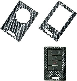 carmonmon Plastic Remote Smart Key Fob Shell Cover Case Bag Holder Cover for Cadillac (Carbon Gloss Fiber)