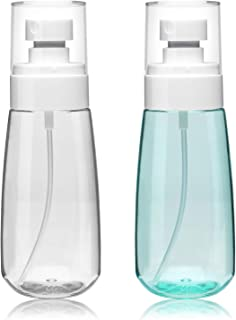 Mist Spray Bottle 3.4oz/100ml Empty Clear Travel Containers Cosmetic Refillable Plastic Hair Spray Bottle Water Mist Sprayer for Perfume Skincare Makeup Lotion 2 Pack
