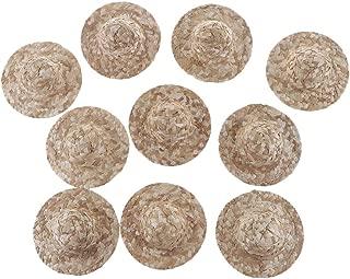 NUOBESTY 50 St/ücke Mini H/üte Handwerk Puppe Strohh/üte Ornamente f/ür DIY Handwerk Puppe Machen 2 5 cm