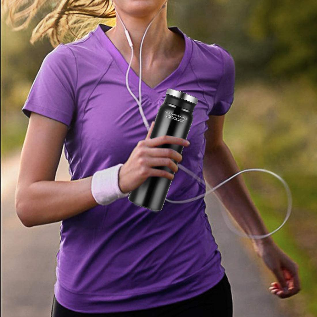 25oz Welovesea Stainless Steel Water Bottle Double Wall Vacuum Insulated Water Bottle Perfect for Outdoor Sports Wide Mouth
