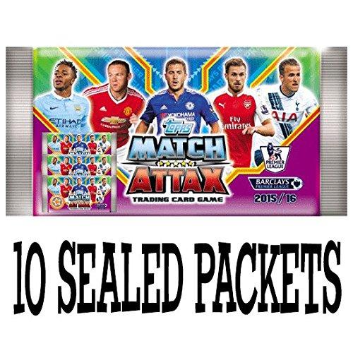 Topps Match Attax Barclays Premier League 2015 2016 Karten - 10 abgedichtet Booster-Pakete (UK-Version)