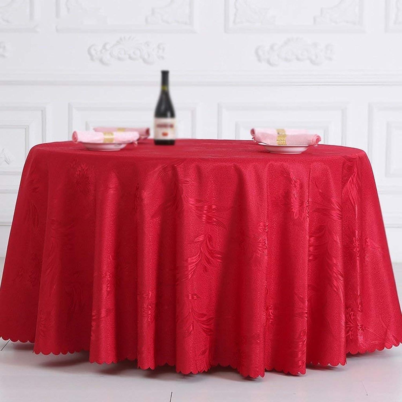 FERZA Home Nappe Table Ronde Moderne de Mariage Mariage Polyester de Fourniture de Pièce Textile Accueil (Taille   320cm)