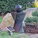 CLGarden – NSP4 energía Solar fuente de agua Set con batería integrada y ambiente LED iluminación esfera estanque Kit completo con función de modo y potente panel
