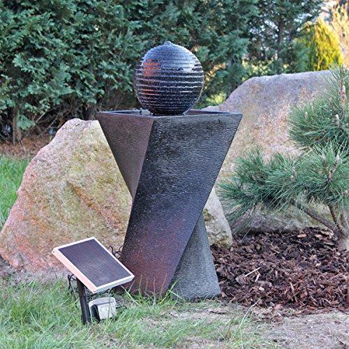 CLGarden Solar Springbrunnen Set NSP4 mit Akku und LED Beleuchtung Solarbrunnen