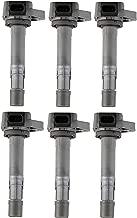 Set of 6 Ignition Coils for 2001-2009 Honda Pilot Ridgeline Acura MDX Saturn Vue - 3.5L 3.7L V6 fit UF400 UF512 UF307 C1460