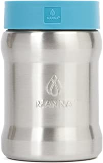 Manna Renegade Stainless Steel Soda and Beer Can Cooler - Holds All Standard 12 oz Cans and Bottles for Sports Games, Home or Camping Trips - Aqua