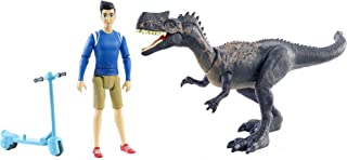 Jurassic World Human & Dino Pack Kenji & Monolophosaurus Action Figures, Segway Accessory, Camp Cretaceous Movable Joints...