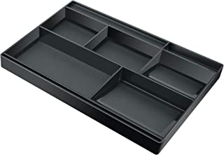 Acrimet Drawer Organizer Bin Multi-Purpose Storage for Desk Supplies and Accessories (Plastic) (Black Color)