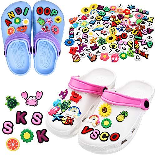 WILLBOND 100 Stück verschiedene Form Schuhe Charms Niedlichen PVC Schuh Charms für Clog Schuhe Dekoration Armband Armband Party Gefallen