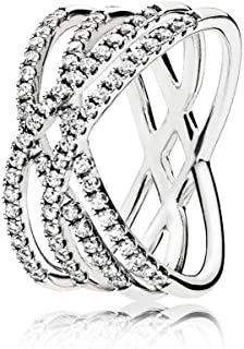218a80421 Pandora Women Silver Piercing Ring - 196401CZ-54