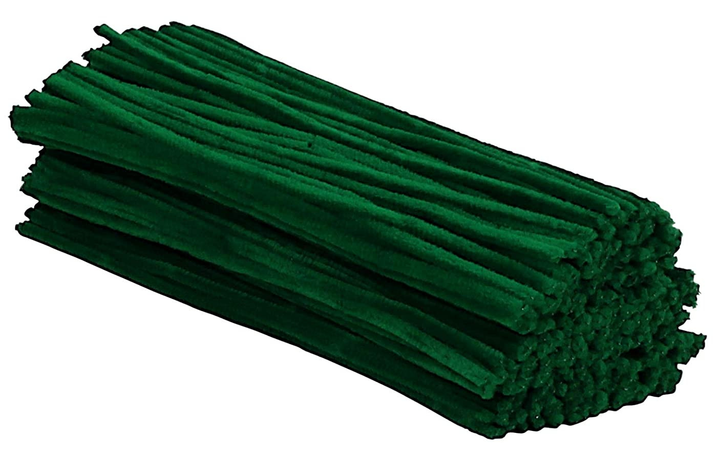 Iconikal Pipe Cleaners Craft Chenille Stems, 300-Count, Green