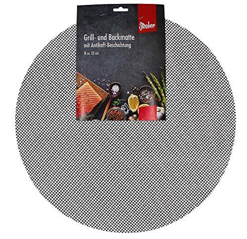 culinario Grillmatte, antihaftbeschichtet, zuschneidbar, rund Ø 52 cm oder eckig 42 x 36 cm, als Backpapier Ersatz verwendbar (Anzahl: 1 Stück, rund)