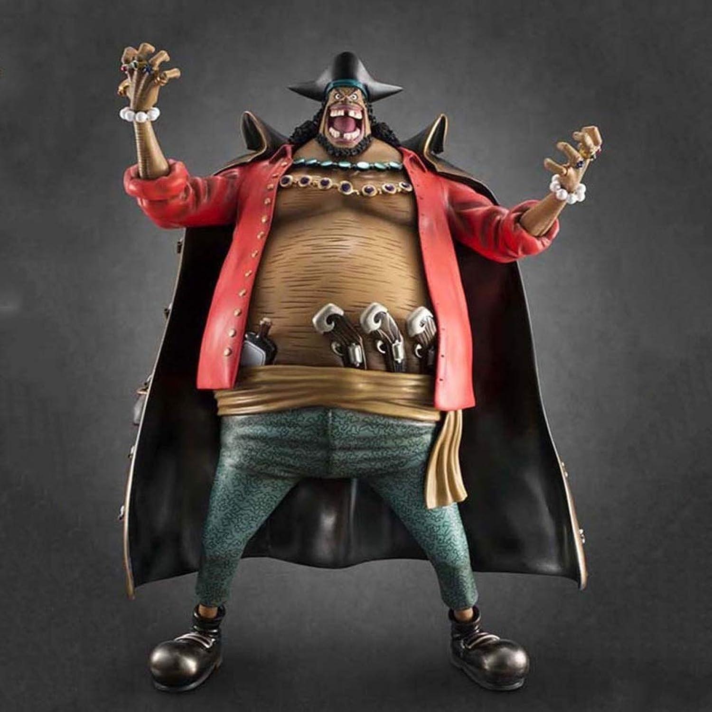 muy popular Anime Cochetoon One Piece Juego Personaje Modelo Modelo Modelo Barba Negro Estatua Alta 35cm Decoración De Juguete CQOZ  Disfruta de un 50% de descuento.