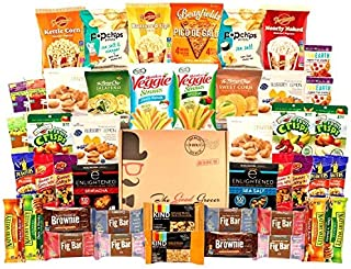 HEALTHY Snacks Care Package (45 Count): Bars, Cookies, Chips, Crispy Fruit, Trail Mix, Gift Box, Office Assortment, Variety Pack, College Student Military Care Package, Gift Basket Alternative